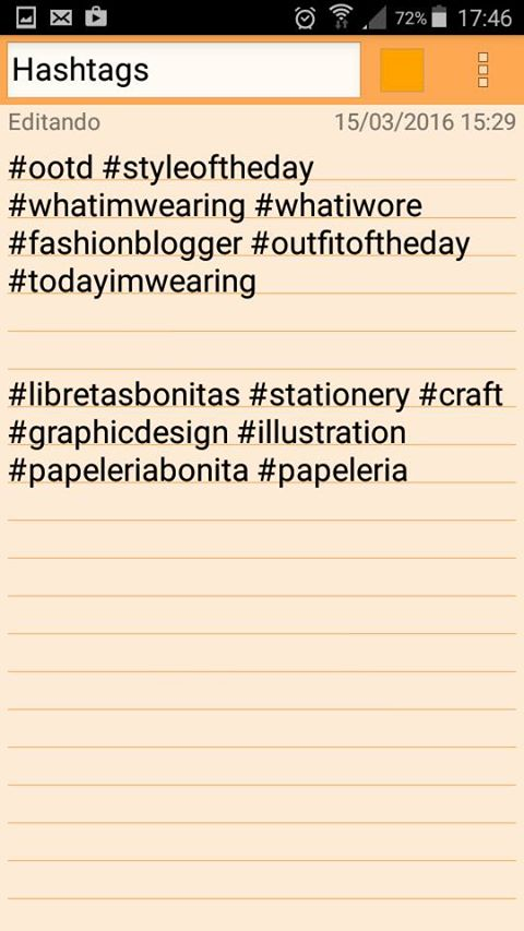 Blanca de la cruz Bx hashtags color note